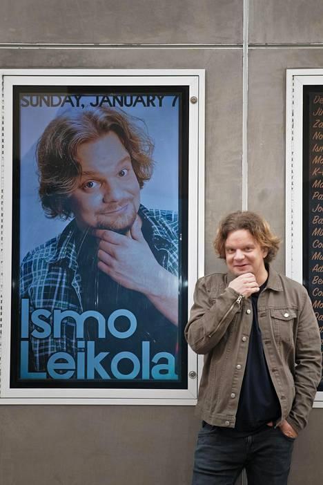 Ismo Leikola oli ensimmäistä kertaa pääesiintyjän 500 katsojan The Improv-klubilla.