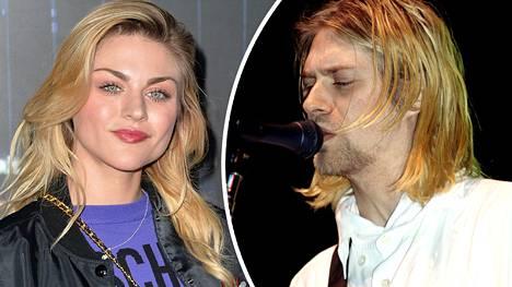 Frances Bean Cobain 2018. Kurt Cobain lavalla marraskuussa 1993.