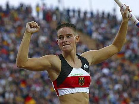 Vuonna 2002 Yvonne Buschbaum juhli EM-pronssia.