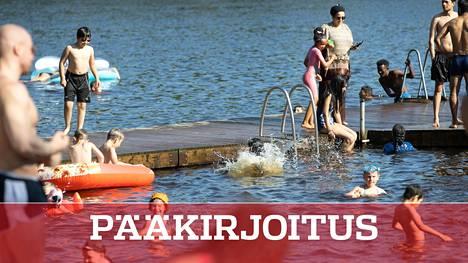 Vantaan Kuusijärvellä on tänä kesänä riittänyt väkeä.