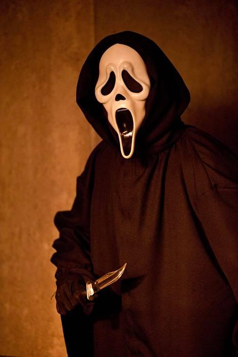 Scream-elokuvien murhaajat piiloutuvat Ghostface-maskin taakse.