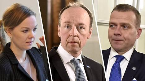 Kulmuni, Halla-aho ja Orpo väittelivät taloudesta keskuskauppakamarin tilaisuudessa.