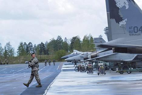 Oregonin kansalliskaarti harjoitteli Suomessa toukokuussa 2016.