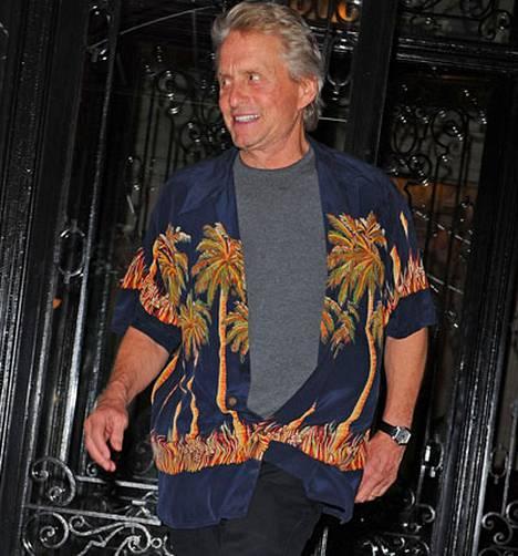 Michael Douglasin paita herätti hilpeyttä New Yorkissa.