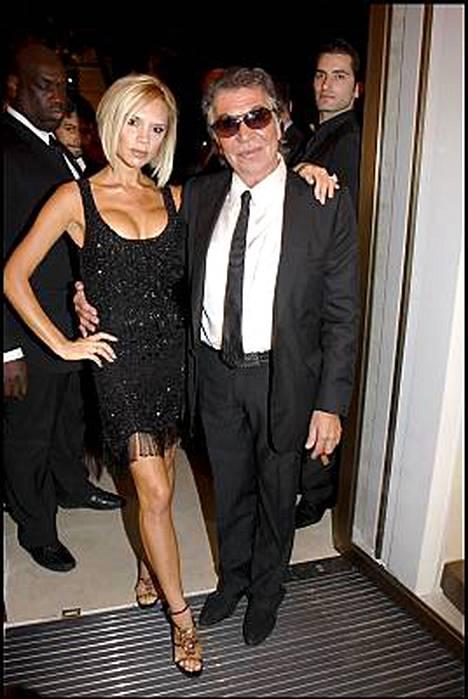Victoria Beckham ja huippusuunnittelija Roberto Cavalli ovat ystäviä.
