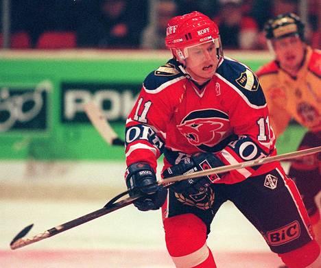 Jan Caloun HIFK:n paidassa syksyllä 1997.