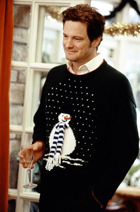 """Jouluneuleeseen verhoutunut Mark Darcy (Colin Firth) vuonna 2004 ensi-iltansa saaneessa elokuvassa """"Bridget Jones: Elämä jatkuu""""."""