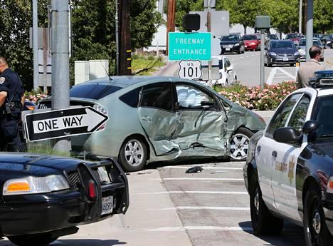 TMZ:n lähteiden mukaan kuvan Toyota Prius olisi aiheuttanut onnettomuuden.