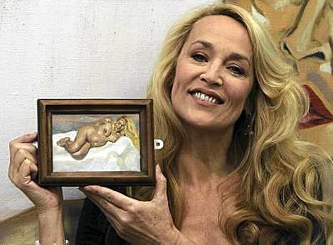 Jerry Hall oli taitelijalle poseeratessaan kahdeksannella kuulla raskaana.