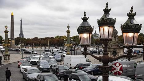 Place de la Concorde ruuhkautui normaalia pahemmin perjantaina.