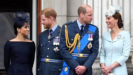 Herttuatar Meghan, prinssi Harry, prinssi William ja herttuatar Catherine ovat edustaneet viime aikoina yhdessä vain pakollisissa edustustilaisuuksissa.