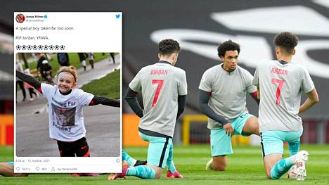 Liverpool kunnioitti Jordan Banksin muistoa Old Traffordilla.