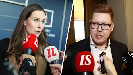 Sanna Marin ja Antti Lindtman ovat molemmat ilmoittaneet olevansa käytettävissä pääministeriksi.