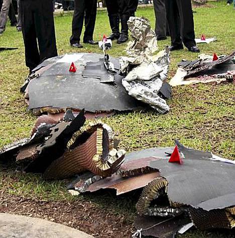 Maasta läheltä Singaporea löytyi palasia, joiden uskotaan olevan peräisin koneesta.