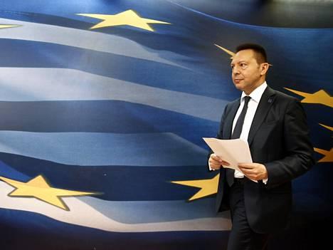 Kreikan keskuspankin pääjohtaja ja entinen valtiovarainministeri Yannis Stournaras.