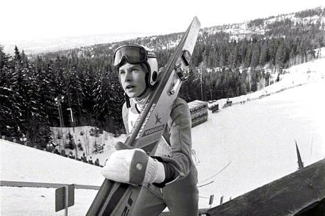Matti Nykänen Holmenkollenilla 1982.