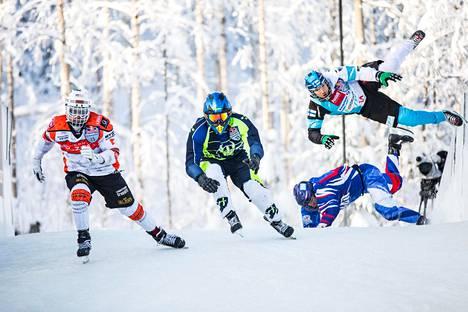 Red Bull Crashed Ice Jyväskylä -tapahtumassa riitti menoa ja meininkiä.
