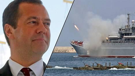 Venäjän pääministeri Dmitri Medvedev esitti linjauksensa ulkovenäläisille suunnatussa foorumissa Moskovassa.