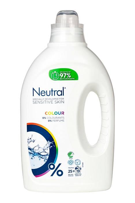 Kolmanneksi eniten pisteitä, 63, sai Neutral-merkin Colour-kirjopesuaine.