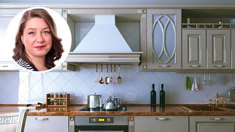 Monika Põldkivi kertoo kikan, joka toimii keittiön hankalaan rasvapölyyn.