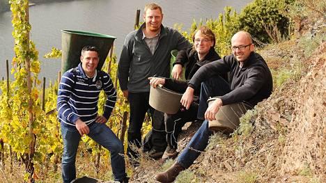 Jyrkkien rinteiden miehet Thomas Ludwig, Axel Pauly, Markus Berres ja Sebastian Oberbillig tekivät yhdessä viinin Viking Linelle.