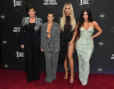 Kris Jenner ja hänen tyttärensä Kourtney, Khloe ja Kim Kardashian ovat maailman seuratuimpia tosi-tv-julkkiksia.
