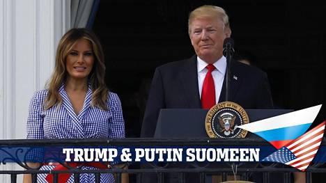 Melania Trump nähdään myös Helsingissä miehensä Donald Trumpin rinnalla, kun Trump matkustaa reilun viikon kuluttua Suomeen tapaamaan Vladimir Putinia.