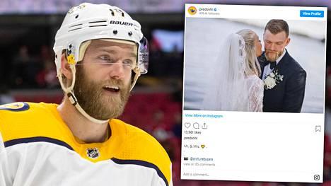 NHL-kiekkoilija Mattias Ekholm siirtyi avioliiton satamaan.