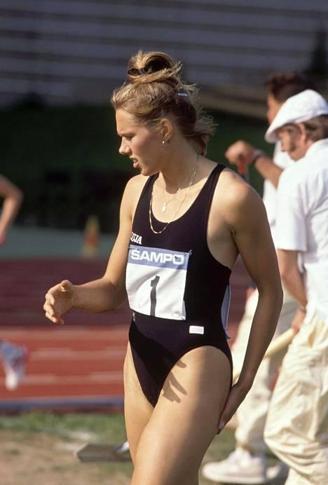 Ringa Ropon kisatyyliä Kalevan kisoissa vuonna 1989.