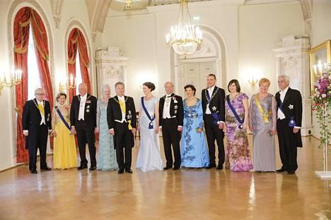 Pohjoismaiden päämiehet tekivät yhteisen onnitteluvierailun 1.6. Heidät nähtiin ensi kertaa yhtä aikaa Suomessa.