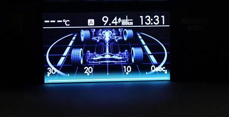 Apunäyttö kertoo muun muassa, kuinka neliveto on ollut käytössä edeltäneen puolen minuutin aikana.