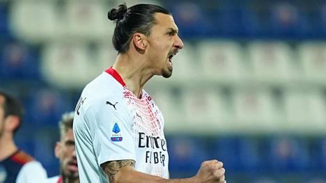 Zlatan juhli raivokkaasti 1–0-maaliaan.