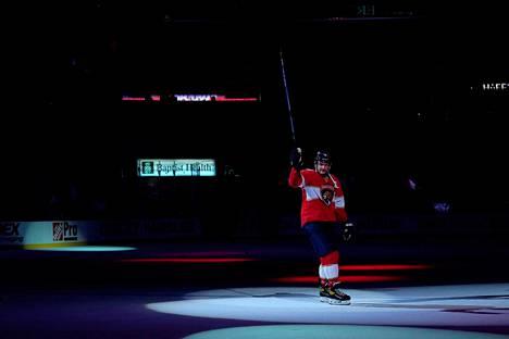Koko NHL:n kovimpaan sentterieliittiin kuuluva Barkov on nostanut tällä kaudella entisestään tasoaan.