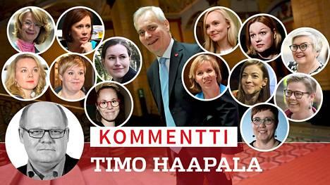 Antti Rinteen hallitukseen on tulossa suhteellisesti enemmän naisia kuin koskaan. Tarjolla ministereiksi on runsaasti naisia sekä tuoreissa tulokkaissa että konkaripoliitikoissa.