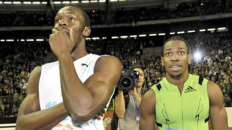 Usain Bolt (vas.) ja Yohan Blake ovat harjoitelleet jo muutaman vuoden yhdessä.