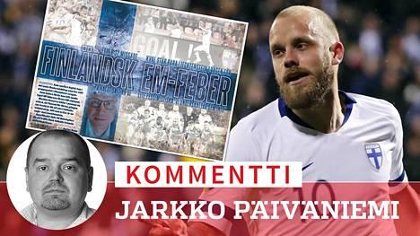 Ruotsin media on huomioinut Teemu Pukin ja muun huuhkajaryhmän menestyskulun jalkapallon EM-karsinnoissa.