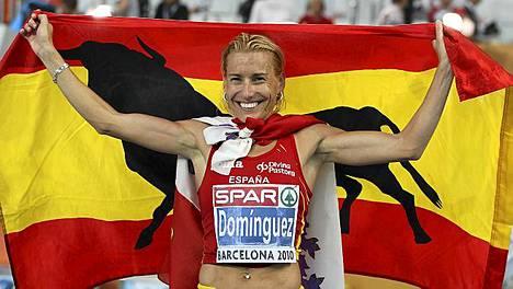 Marta Dominguez tuuletti EM-hopeaa kaksi vuotta sitten.