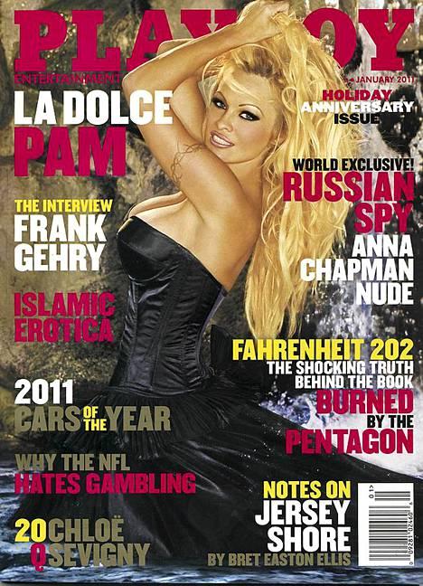 Vuodesta 1989 Playboyn kantta komistanut Pamela pääsi kanteen taas viime tammikuussa.