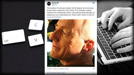 """Tietokoneiden """"leikkaa ja liitä"""" -ominaisuuden kehittänyt Larry Thesler on kuollut, kertoo tietotekniikkayhtiö Xerox."""