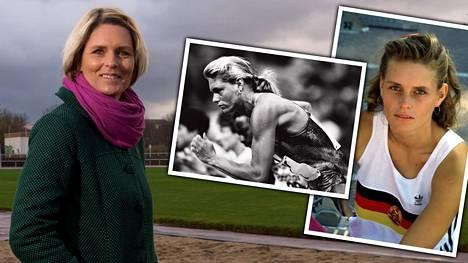 Katrin Krabbe voitti lyhyeksi jääneellä huippu-urallaan MM- ja EM-kultaa. Hän asuu Saksan Neubrandenburgissa.