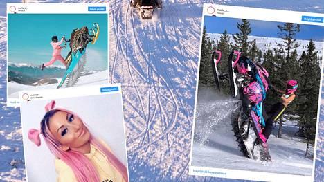 """""""Kelkkakuningatar"""" Maria Sandberg julkaisee näyttäviä Instagram-kuvia."""