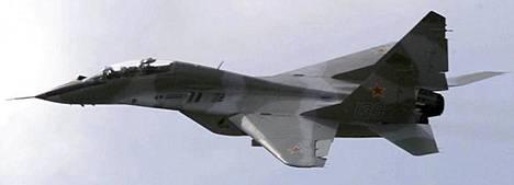 Venäjän torjuntahävittäjä MiG-29.
