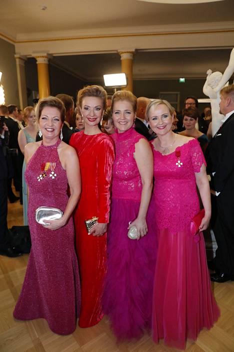 Anneli Kiljunen, Tytti Tuppurainen, Miapetra Kumpula-Natri ja Eeva-Johanna Eloranta.