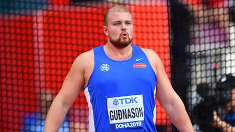 Gudni Valur Gudnason Dohan MM-kisoissa syksyllä 2019.