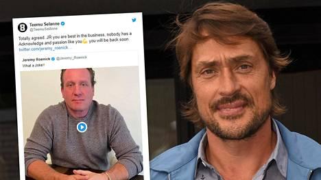 Teemu Selänne osoitti tukeaan Jeremy Roenickille Twitterissä.