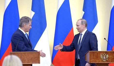 Sauli Niinistö ja Vladimir Putin tapasivat tiistaina Moskovassa.