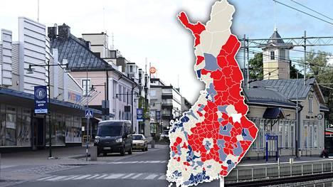 Muiden muassa Tornio (kuva vas.) ja Kerava (oik.) on listattu menestyvien kaupunkialueiden joukkoon Kalevi Sorsa -säätiön raportissa.