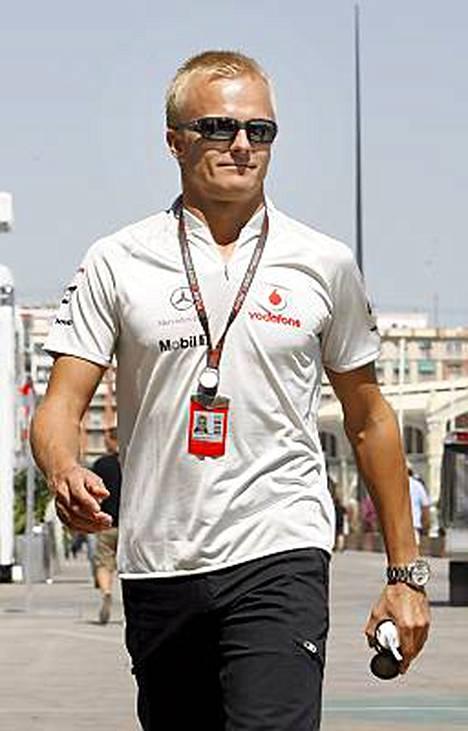 Heikki Kovalaisella ei ollut ongelmia perjantain harjoituksissa.