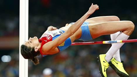 Marija Kutšina voitti huipputasaisen korkeuskisan.