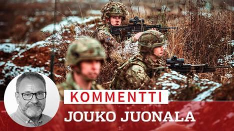 Brittiläiset sotilaat harjoittelivat Puolassa helmikuun alussa. Sotilaat kuuluvat Naton taisteluosastoon, jollainen on sijoitettu myös Viroon.